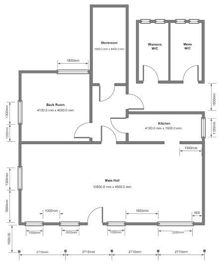 Copsale Hall - Floor Plan